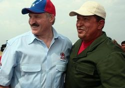 Alexander Lukashenko and Hugo Chavez