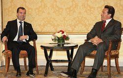 Medvedev and Schwarzenegger