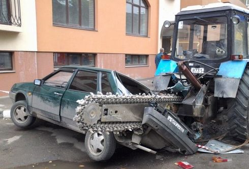 wrong parking in Russia